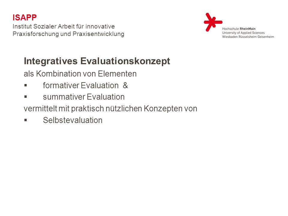 Integratives Evaluationskonzept