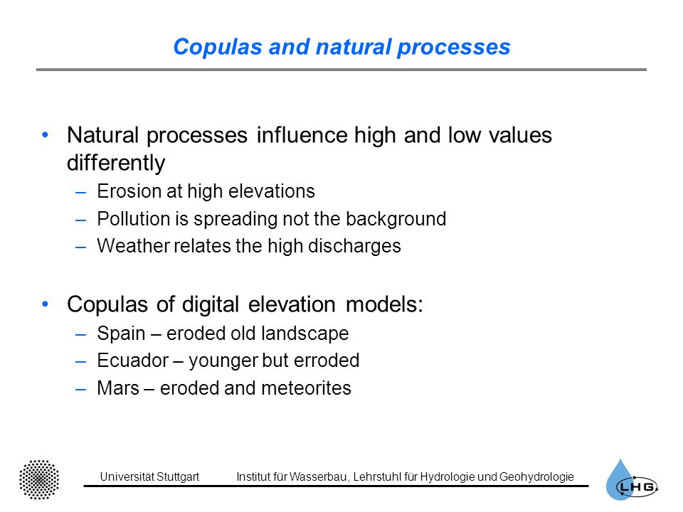 Copulas and natural processes
