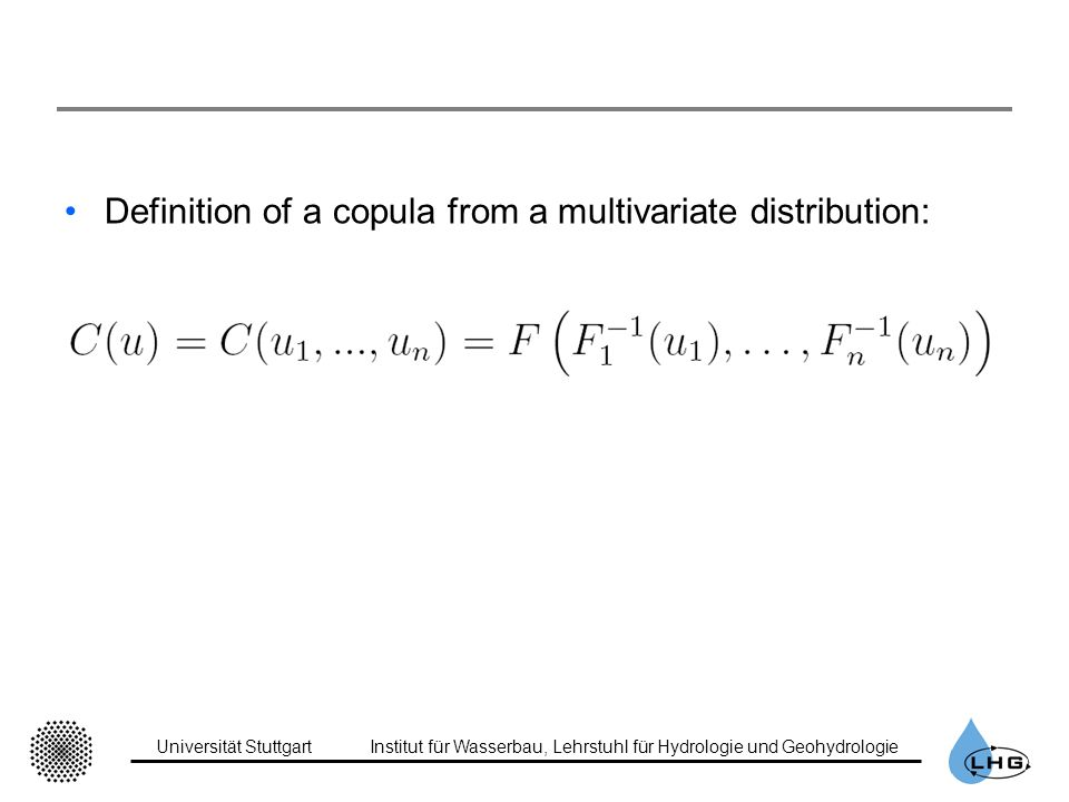 Definition of a copula from a multivariate distribution: