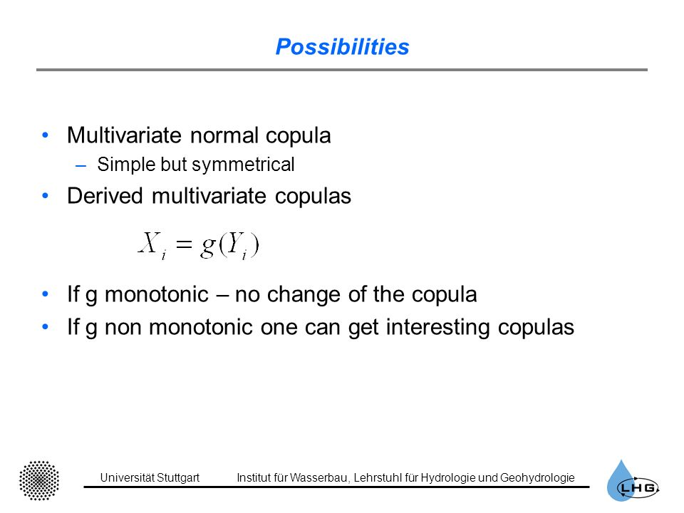 Multivariate normal copula Derived multivariate copulas