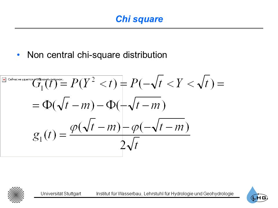 Chi square Non central chi-square distribution