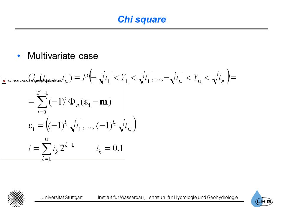 Chi square Multivariate case