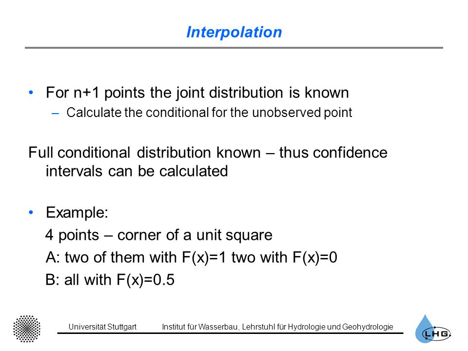 For n+1 points the joint distribution is known