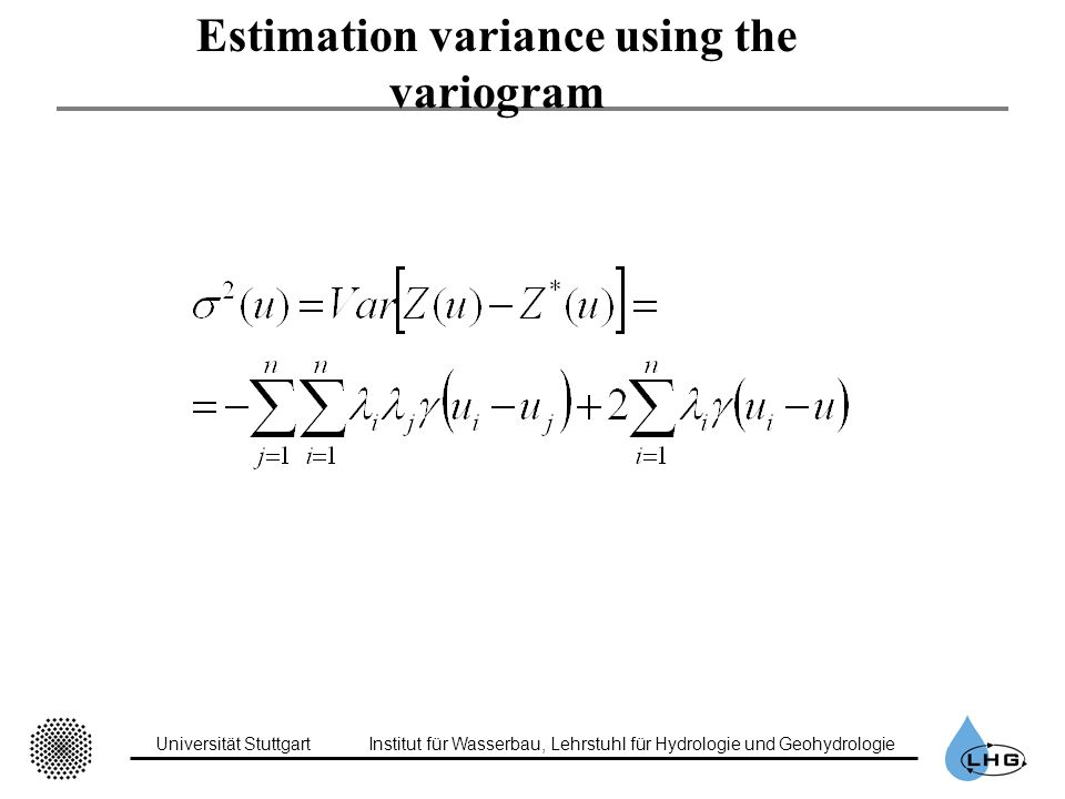 Estimation variance using the variogram