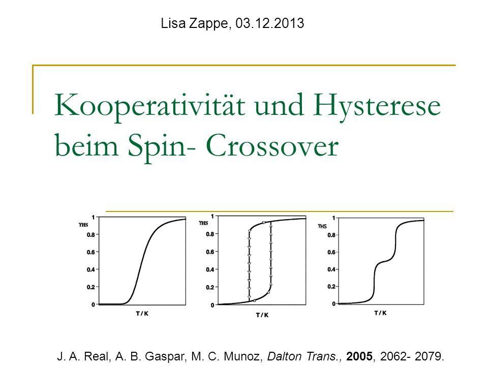 Kooperativität und Hysterese beim Spin- Crossover