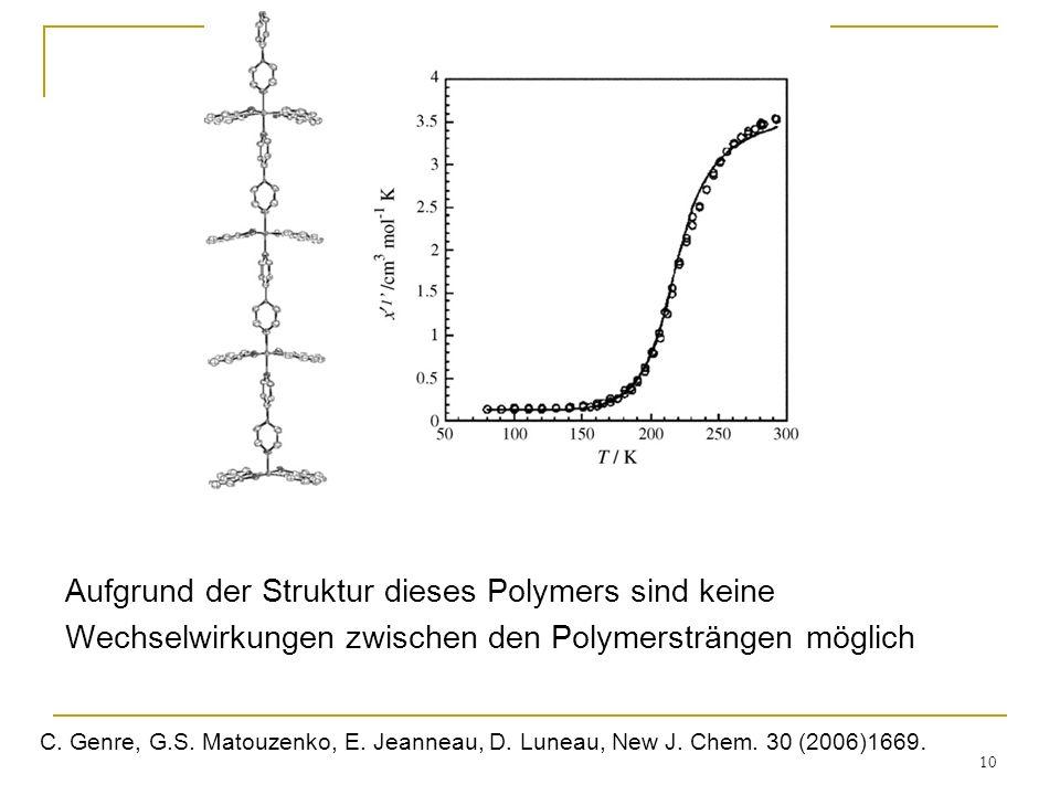 Aufgrund der Struktur dieses Polymers sind keine
