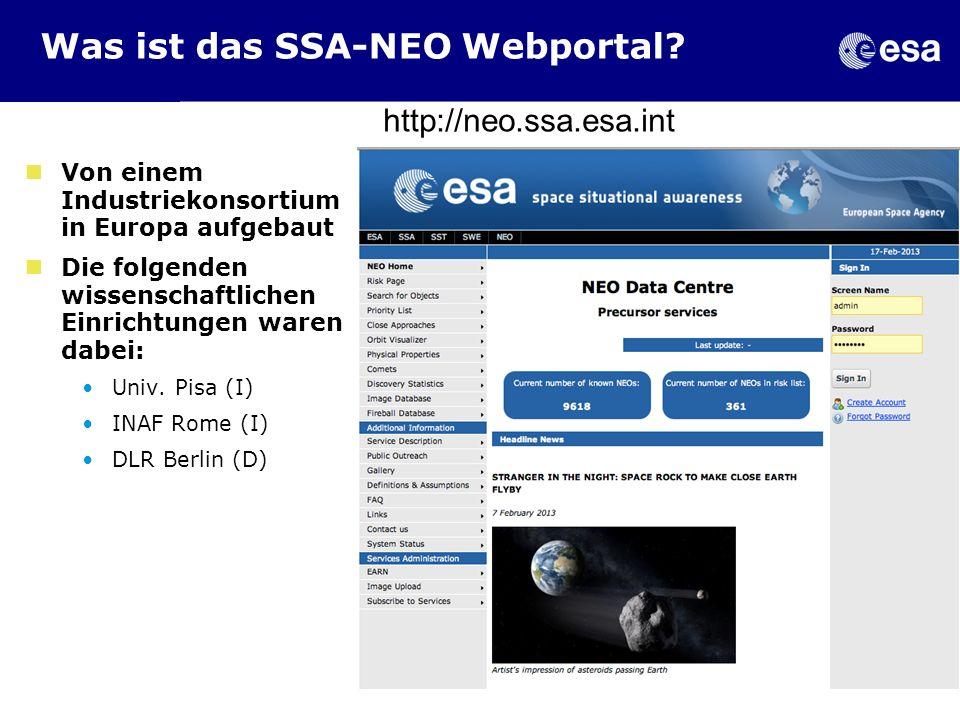 Was ist das SSA-NEO Webportal