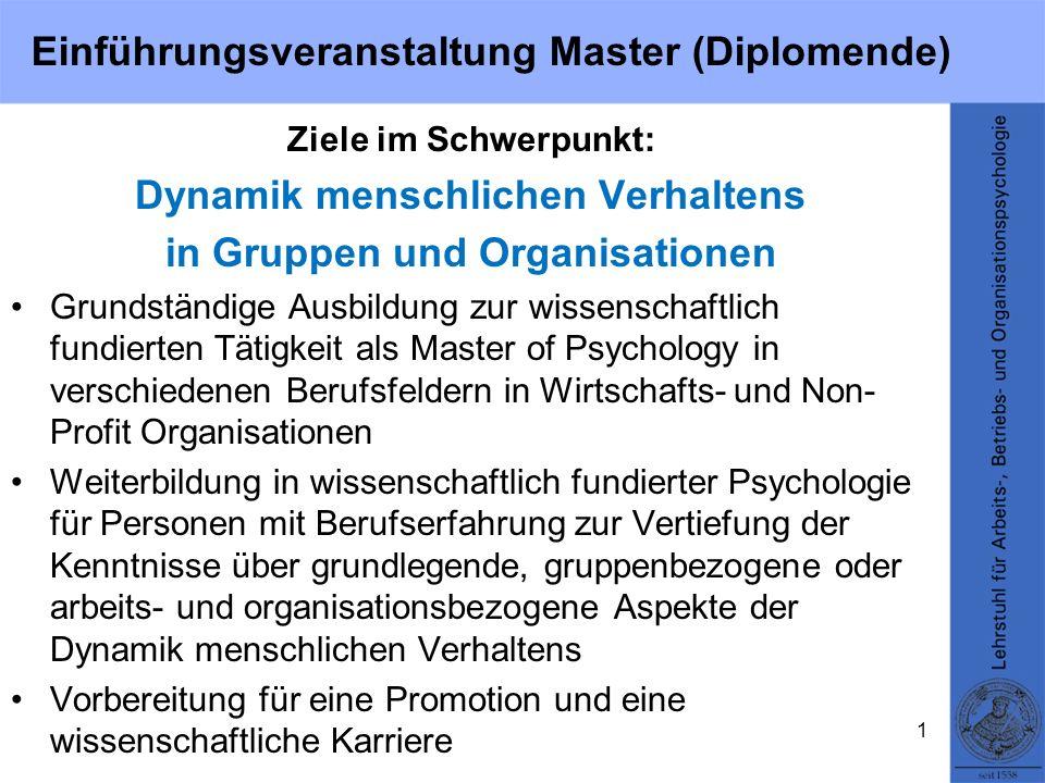 Einführungsveranstaltung Master (Diplomende)