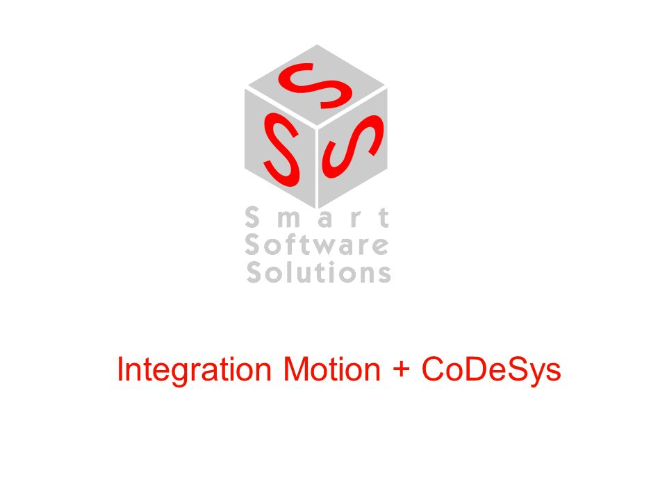 Integration Motion + CoDeSys