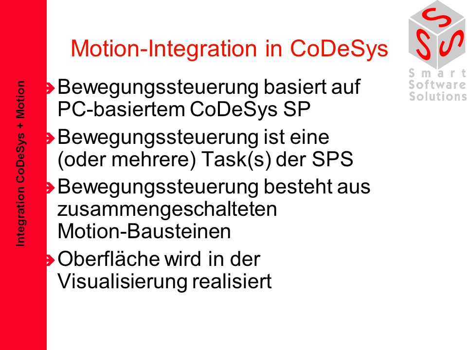 Motion-Integration in CoDeSys