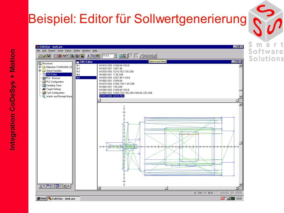 Beispiel: Editor für Sollwertgenerierung