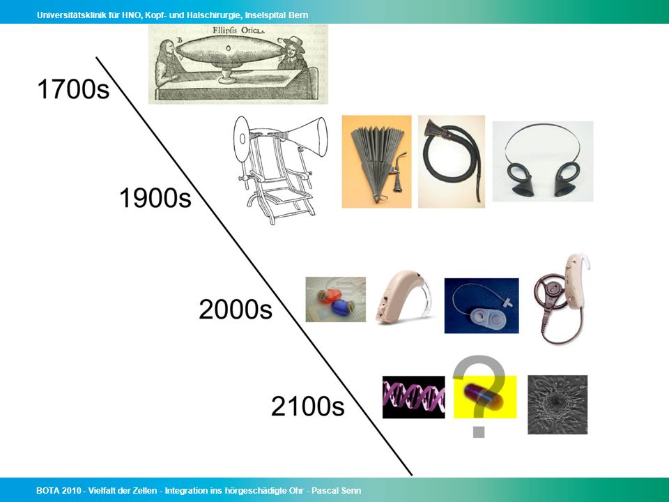 To overcome the negative effects of hearing loss, mankind had to invent all kinds of tools.
