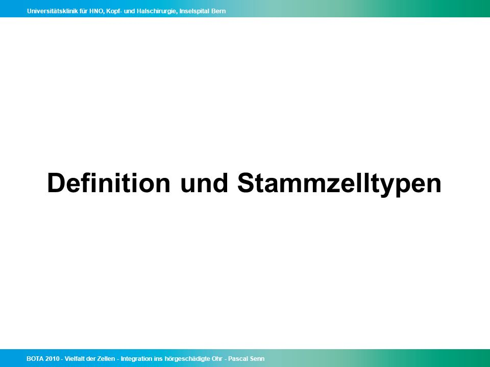 Definition und Stammzelltypen