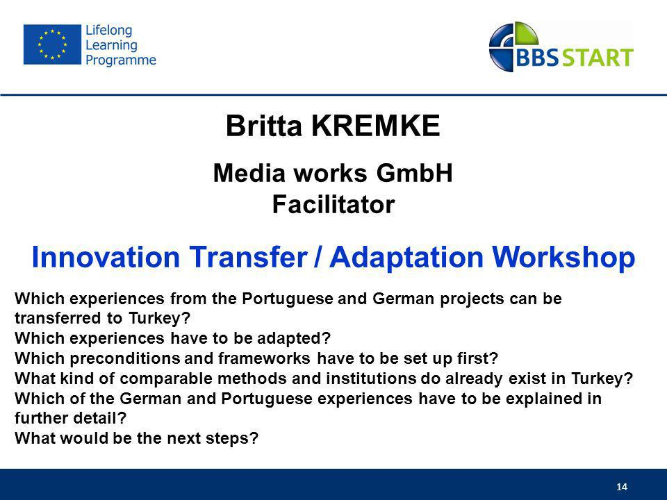 Innovation Transfer / Adaptation Workshop