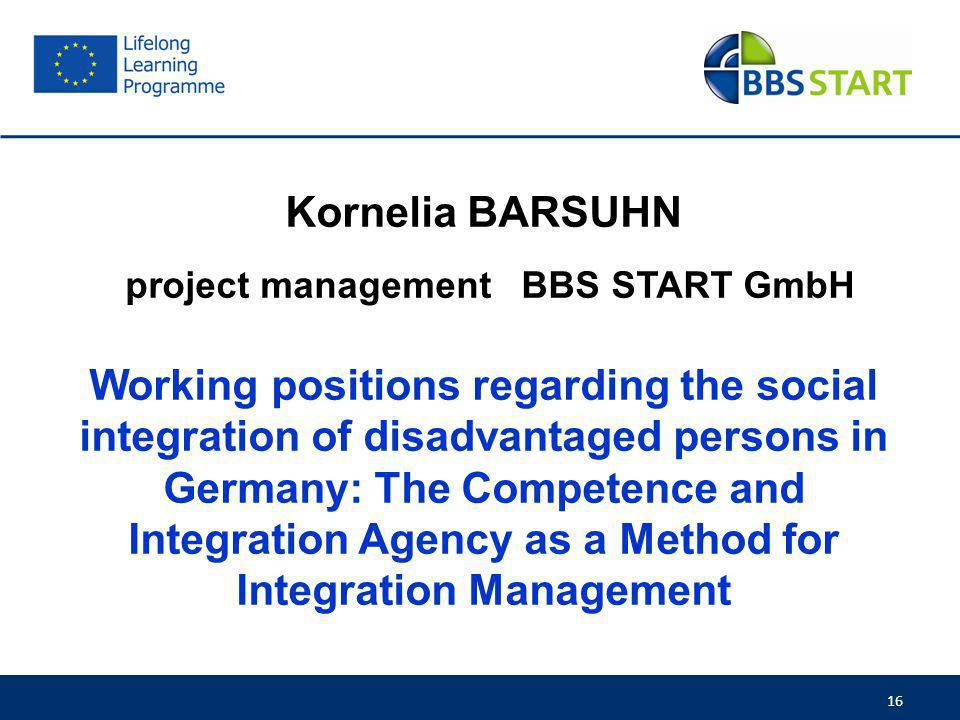 project management BBS START GmbH