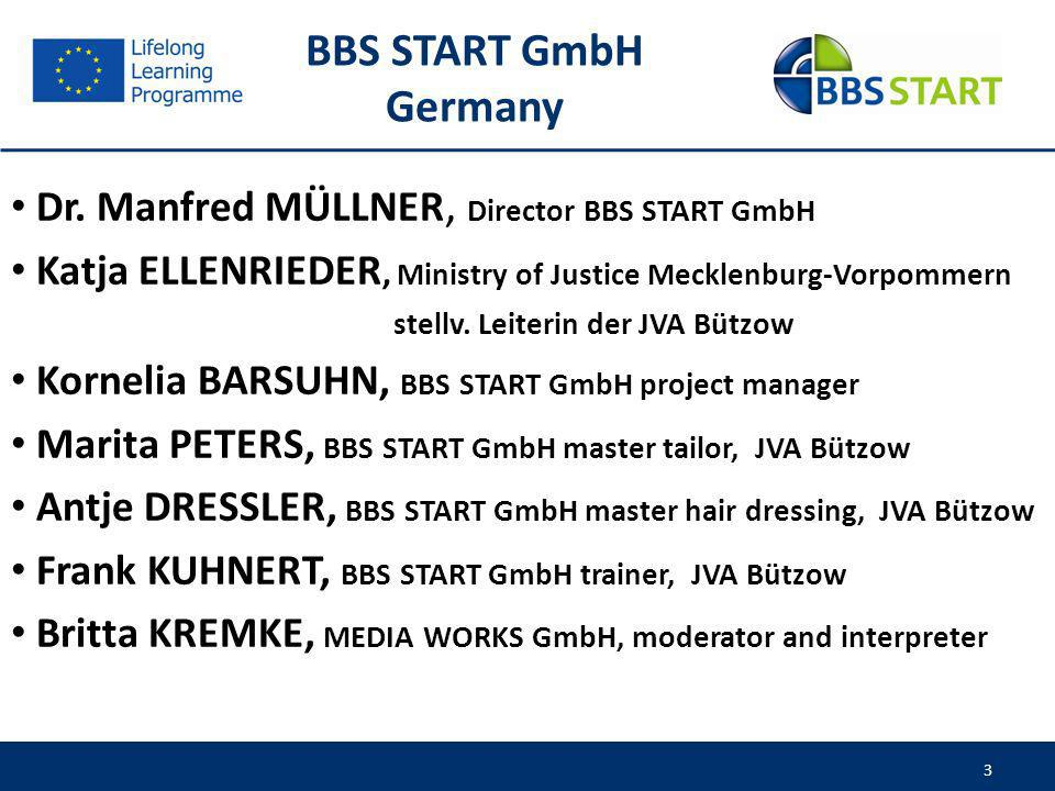 BBS START GmbH Germany Dr. Manfred MÜLLNER, Director BBS START GmbH