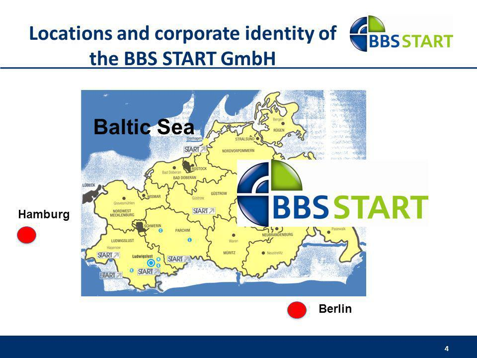 Locations and corporate identity of the BBS START GmbH