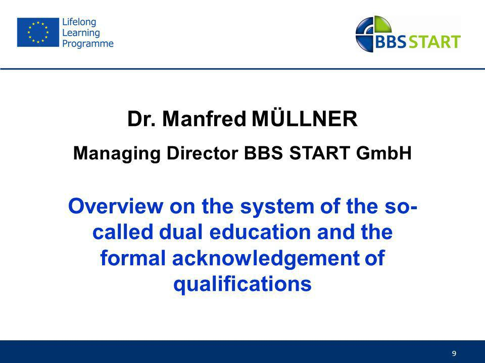 Managing Director BBS START GmbH