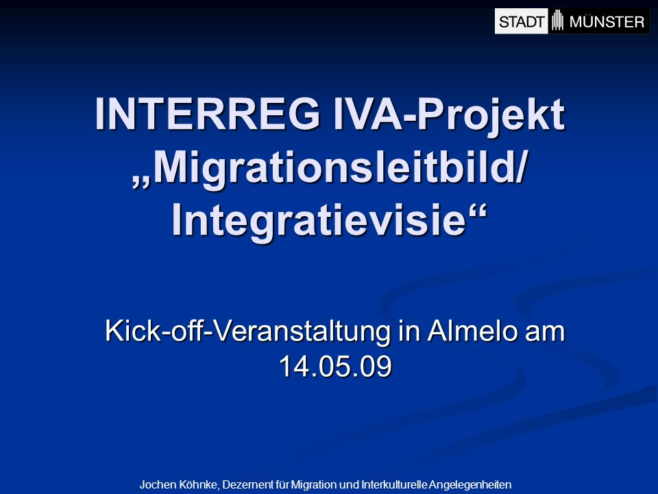 "INTERREG IVA-Projekt ""Migrationsleitbild/ Integratievisie"