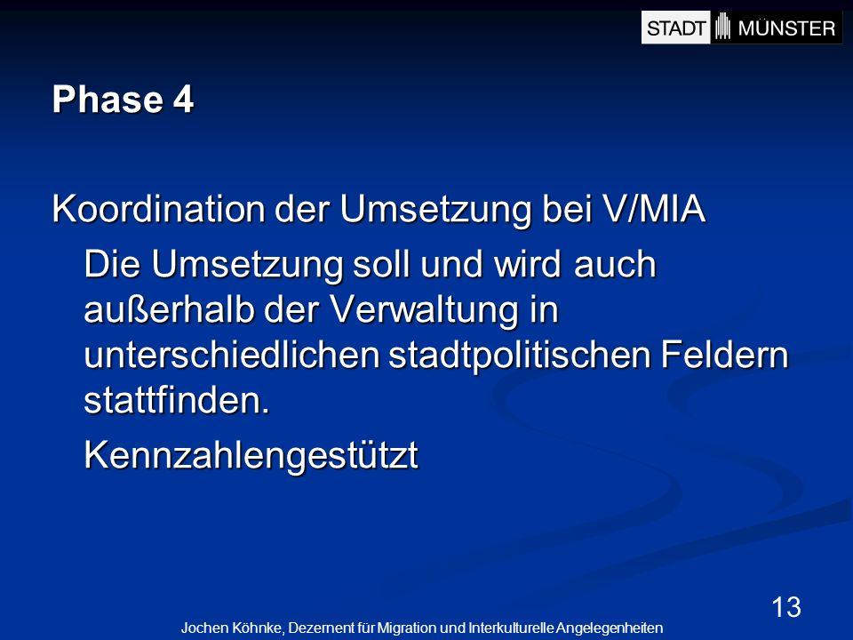 Koordination der Umsetzung bei V/MIA
