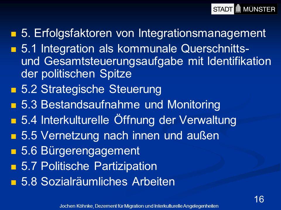 5. Erfolgsfaktoren von Integrationsmanagement