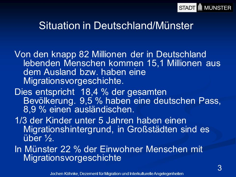 Situation in Deutschland/Münster