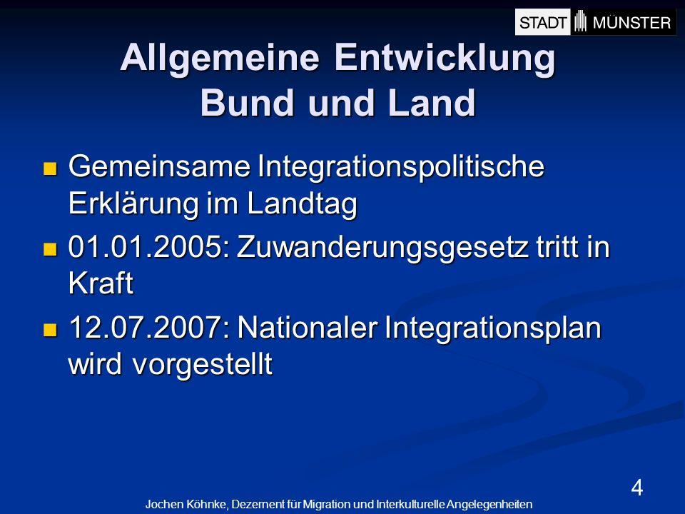Allgemeine Entwicklung Bund und Land