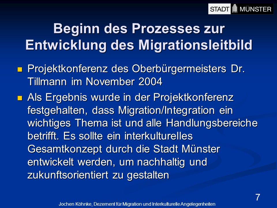 Beginn des Prozesses zur Entwicklung des Migrationsleitbild