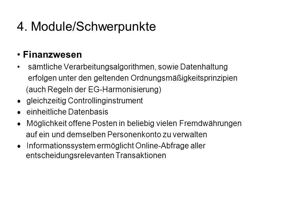 4. Module/Schwerpunkte • Finanzwesen