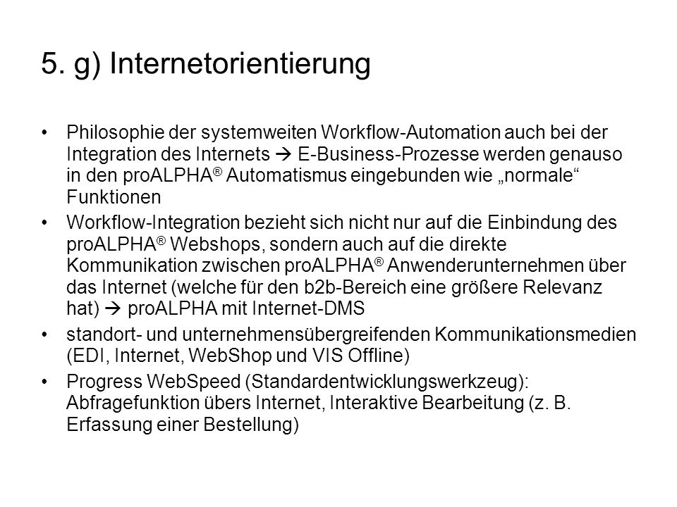 5. g) Internetorientierung