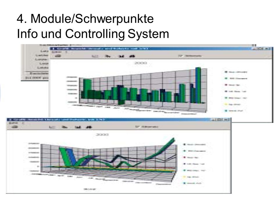 4. Module/Schwerpunkte Info und Controlling System