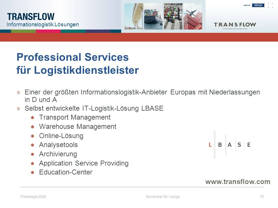 Professional Services für Logistikdienstleister