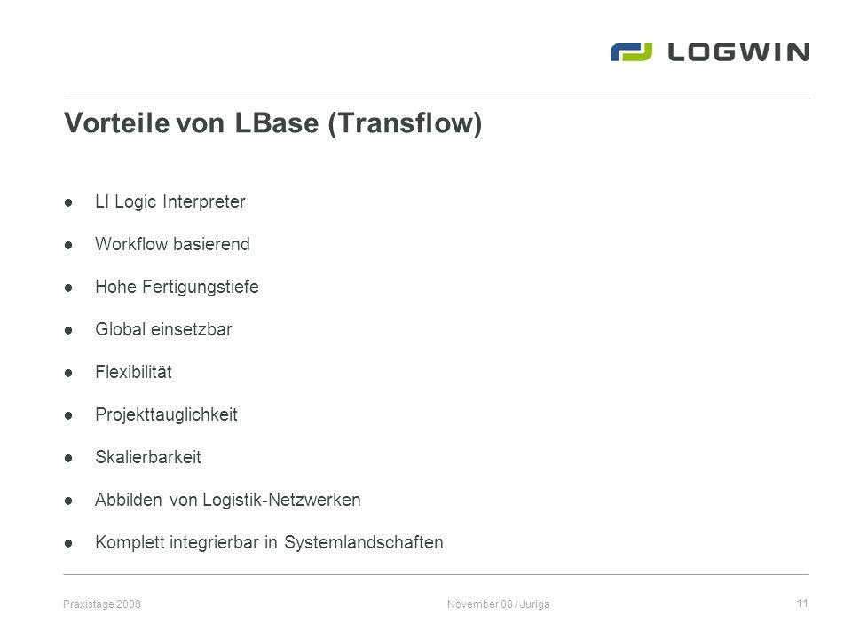 Vorteile von LBase (Transflow)