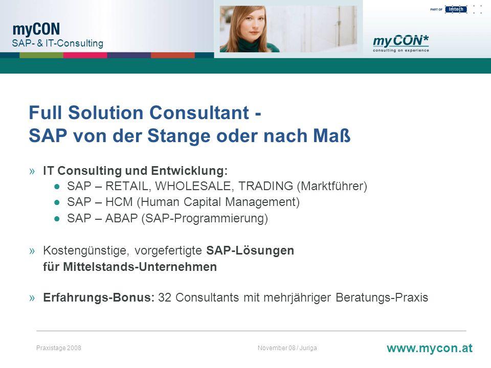 Full Solution Consultant - SAP von der Stange oder nach Maß