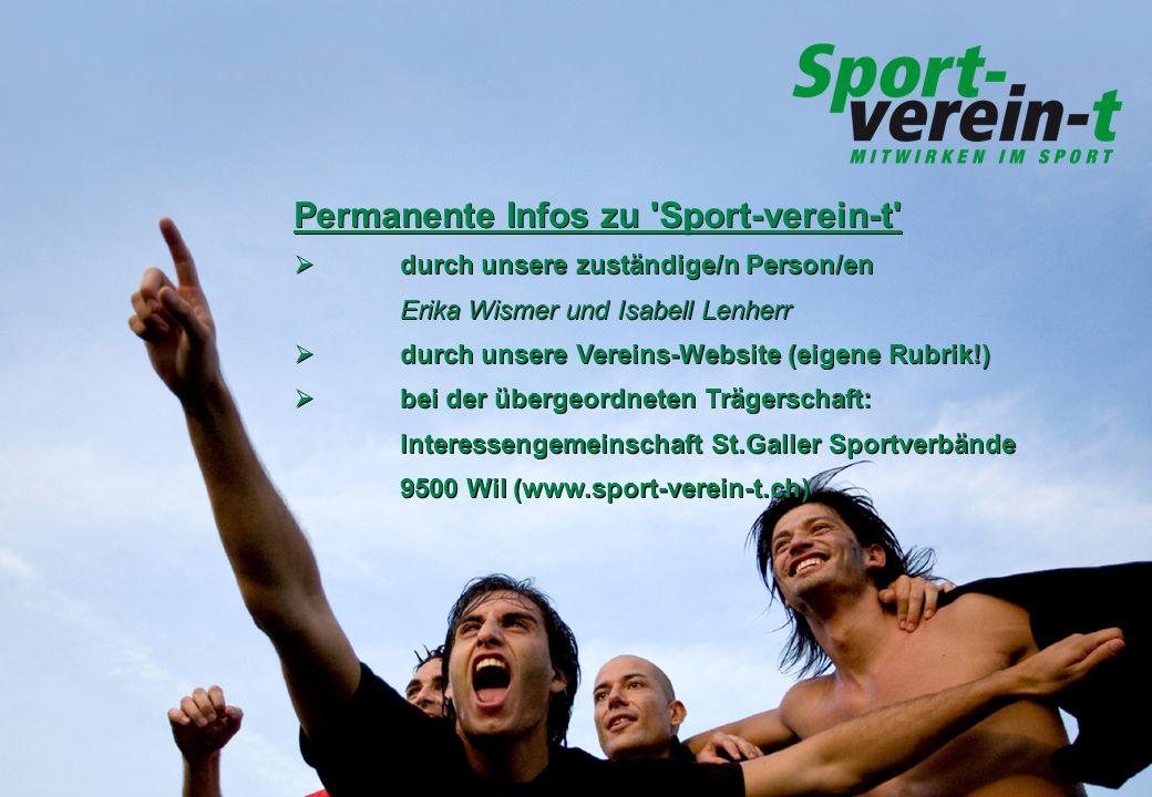 Permanente Infos zu Sport-verein-t