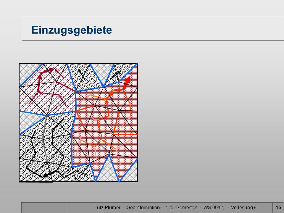 Lutz Plümer - Geoinformation - 1./5. Semester - WS 00/01 - Vorlesung 9
