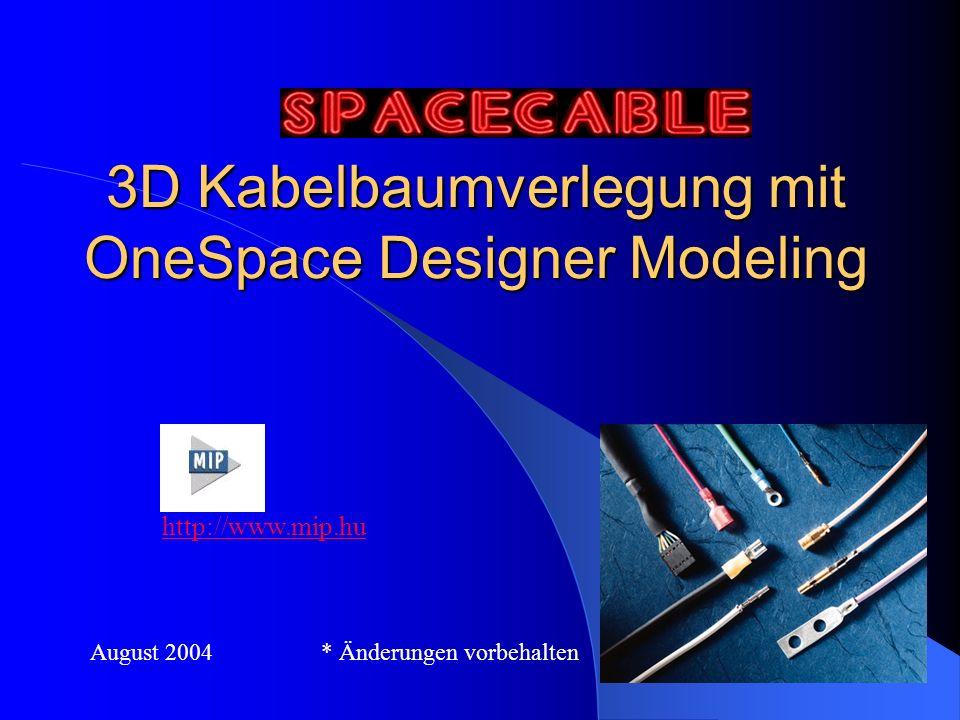 3D Kabelbaumverlegung mit OneSpace Designer Modeling