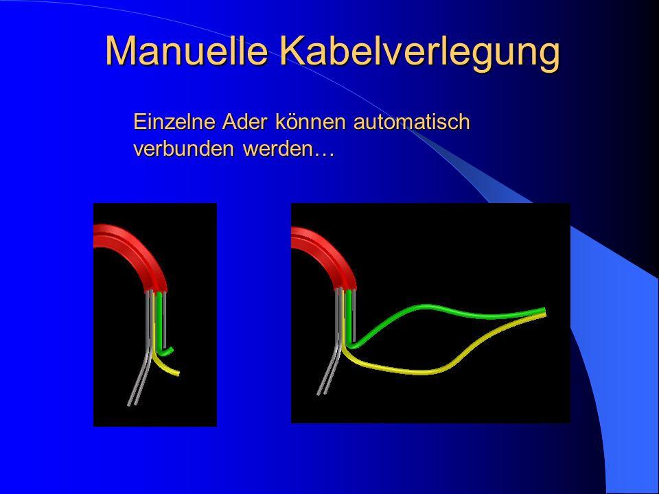 Manuelle Kabelverlegung