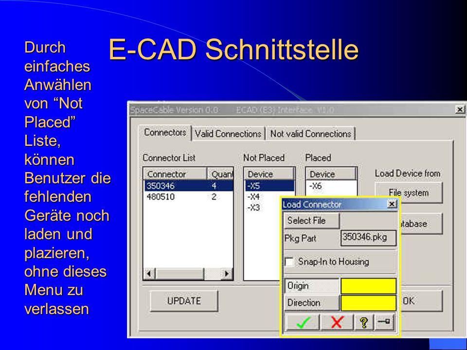E-CAD Schnittstelle