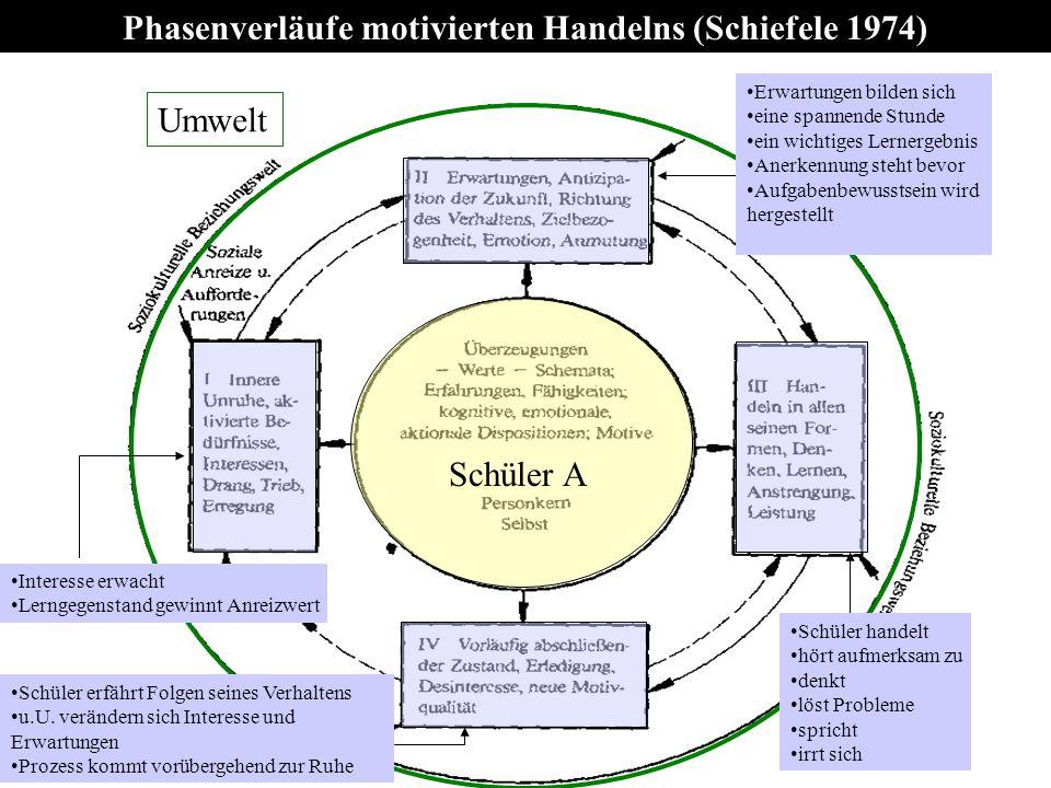 Phasenverläufe motivierten Handelns (Schiefele 1974)