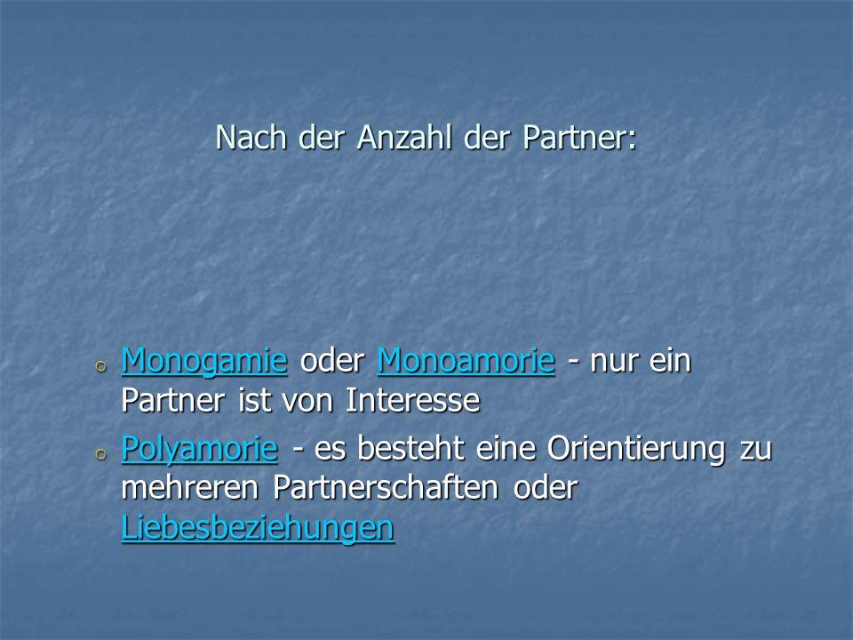 Nach der Anzahl der Partner: