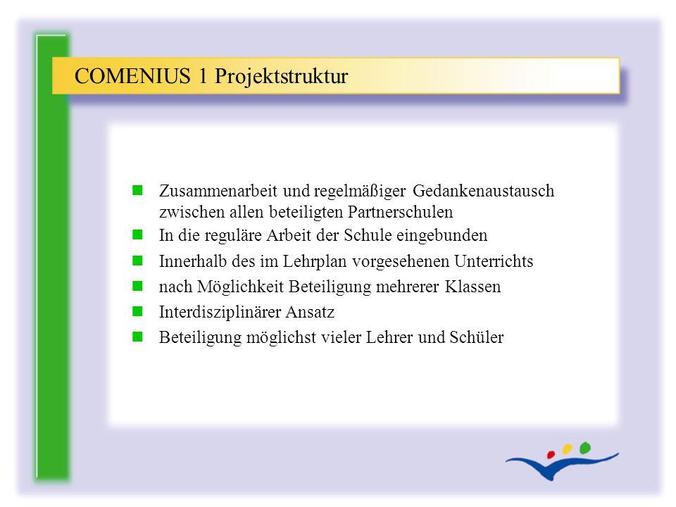 COMENIUS 1 Projektstruktur