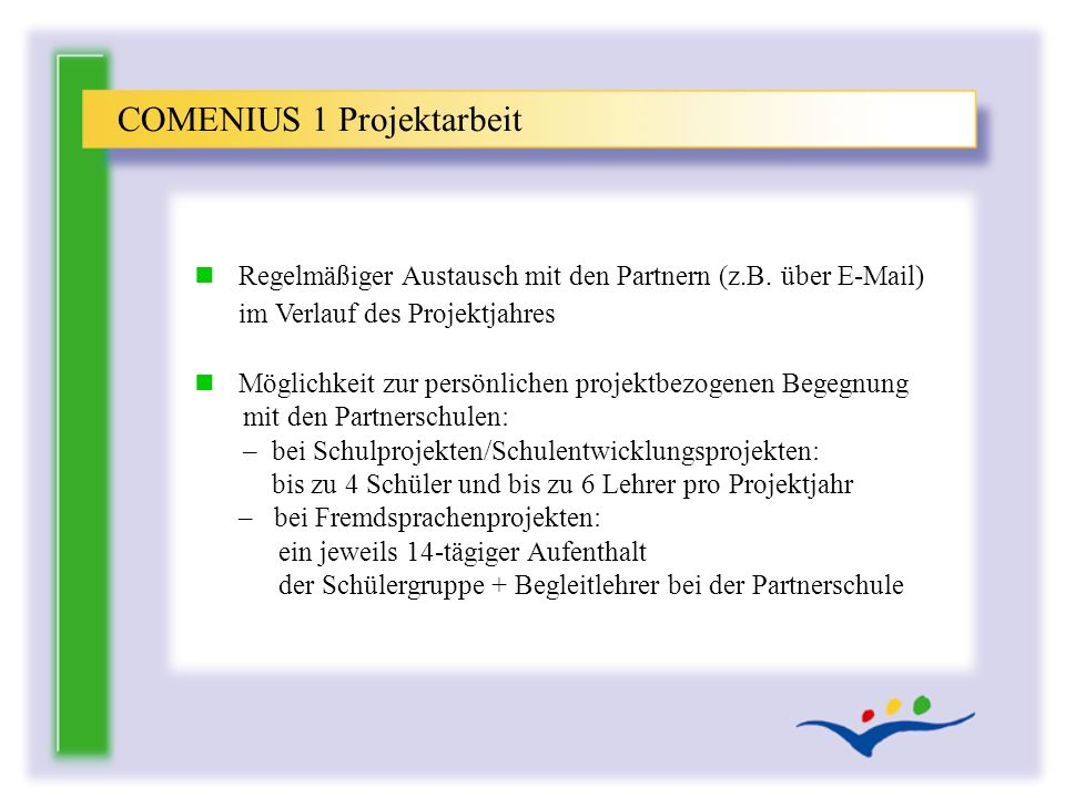 COMENIUS 1 Projektarbeit