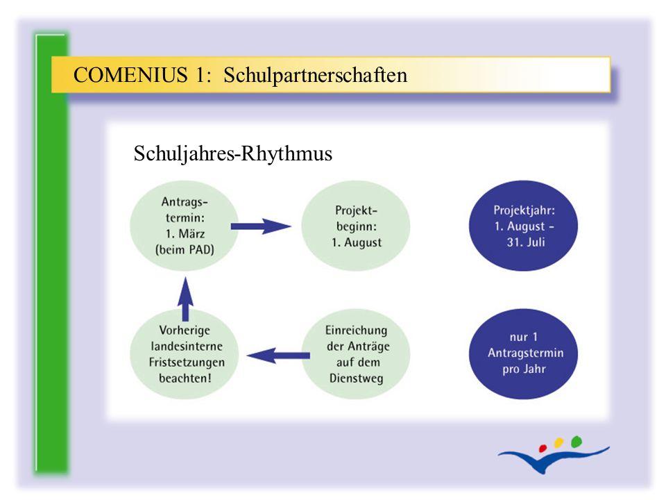 COMENIUS 1: Schulpartnerschaften