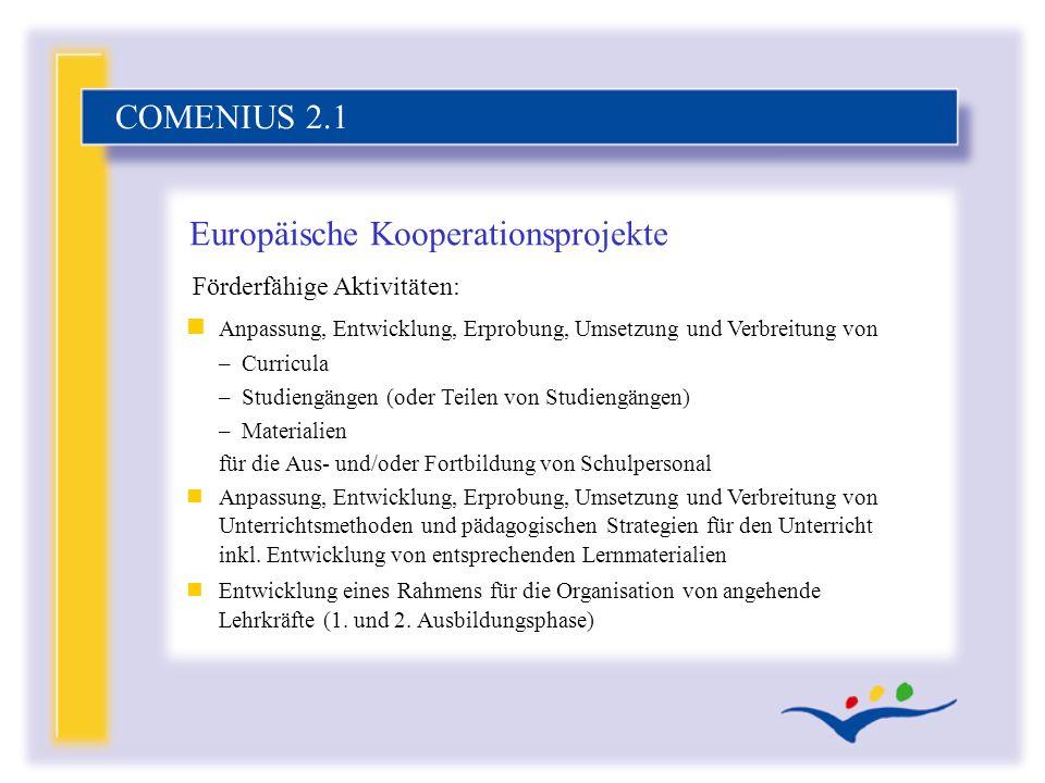 Europäische Kooperationsprojekte
