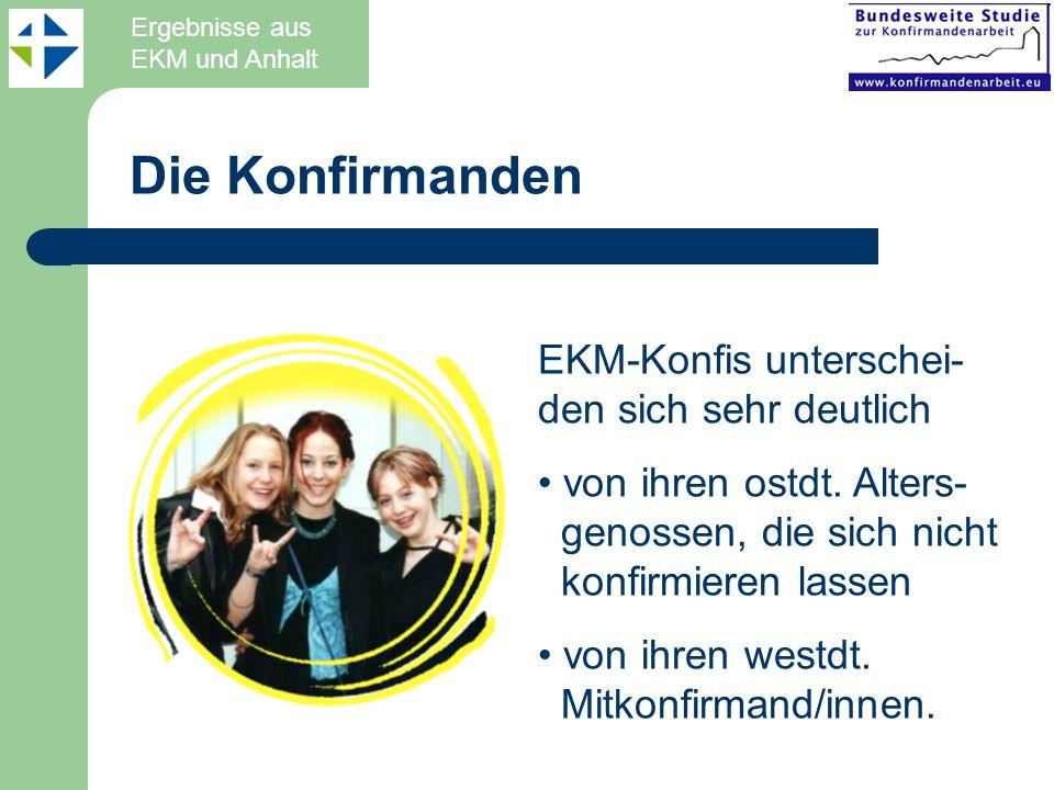 Die Konfirmanden EKM-Konfis unterschei-den sich sehr deutlich