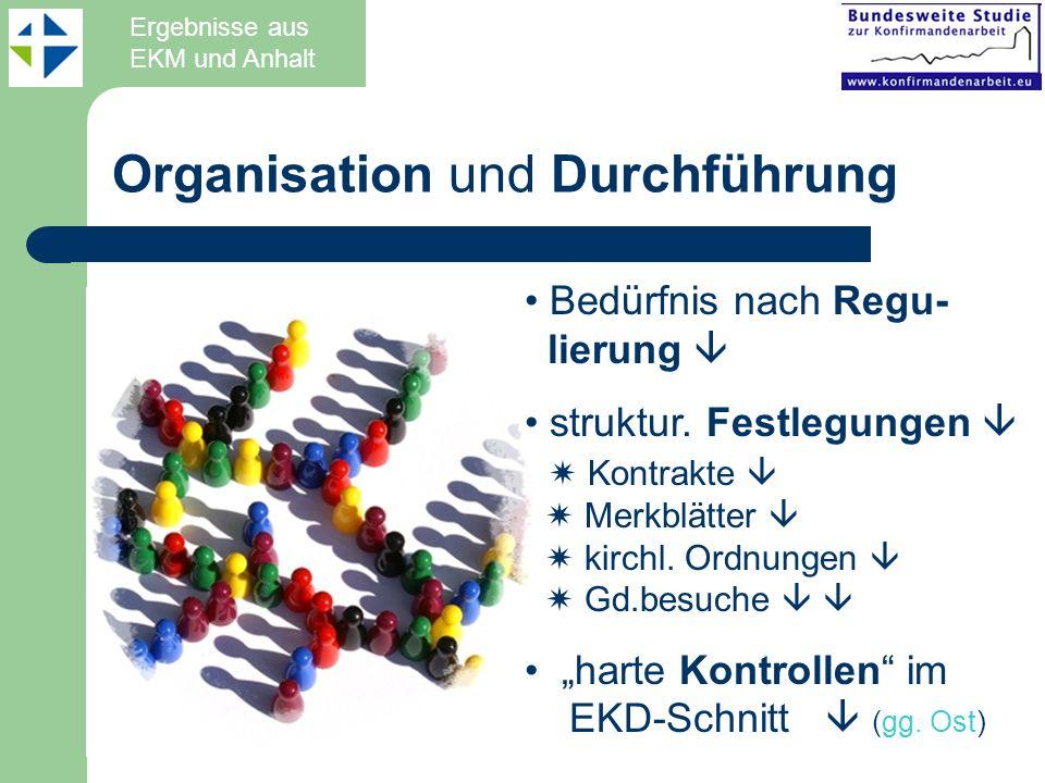 Organisation und Durchführung