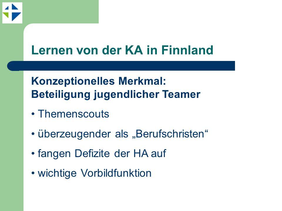 Lernen von der KA in Finnland