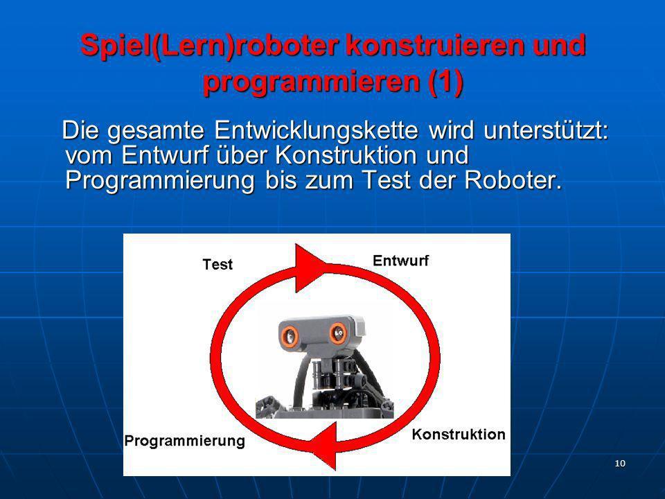 Spiel(Lern)roboter konstruieren und programmieren (1)