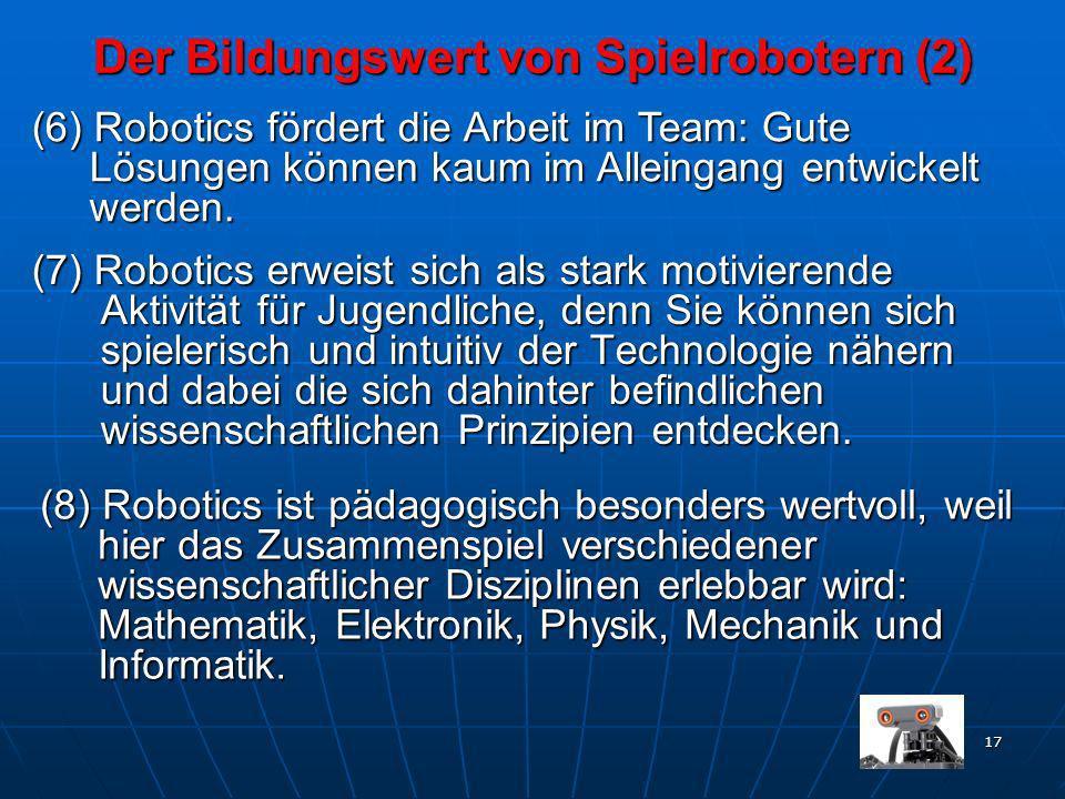 Der Bildungswert von Spielrobotern (2)